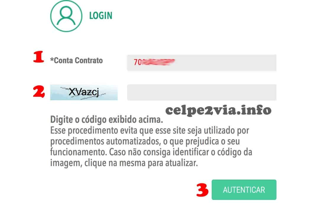 login da agência virtual Celpe